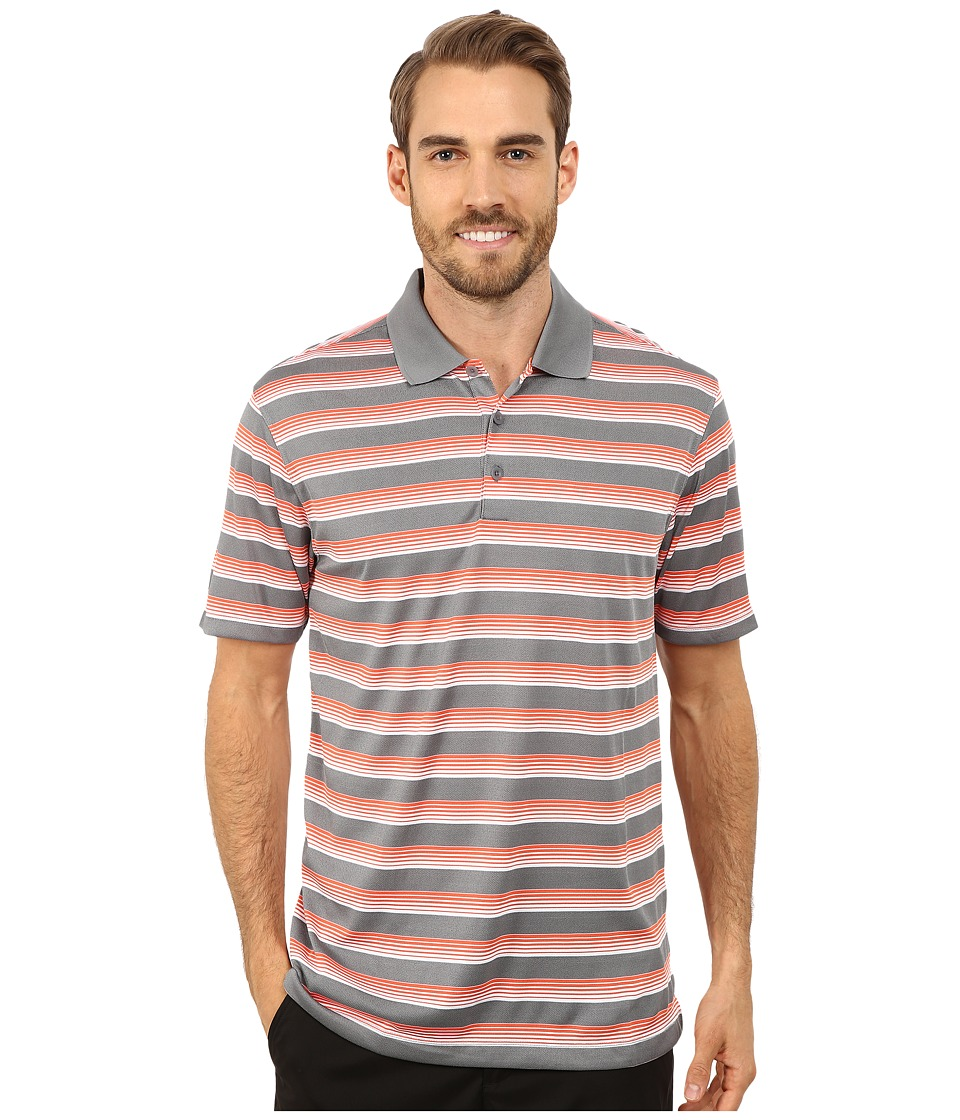Nike Golf - Tech Vent Stripe Polo (Cool Grey/Electro Orange/Wolf Grey) Men's Short Sleeve Knit