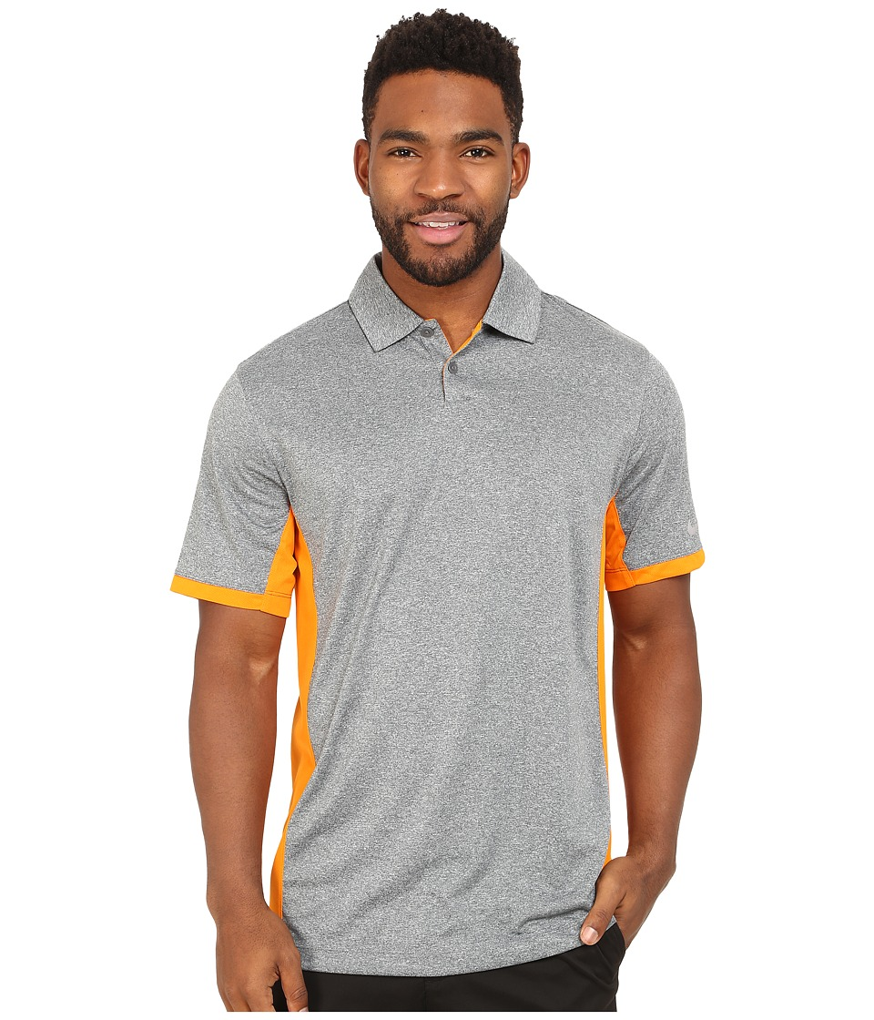 Nike Golf - Victory Block Polo (Flint Grey/Heather/Bright Ceramic/Wolf Grey) Men