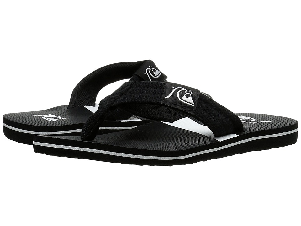 Quiksilver Kids - Molokai Layback (Toddler/Little Kid/Big Kid) (Black/Black/White) Boys Shoes