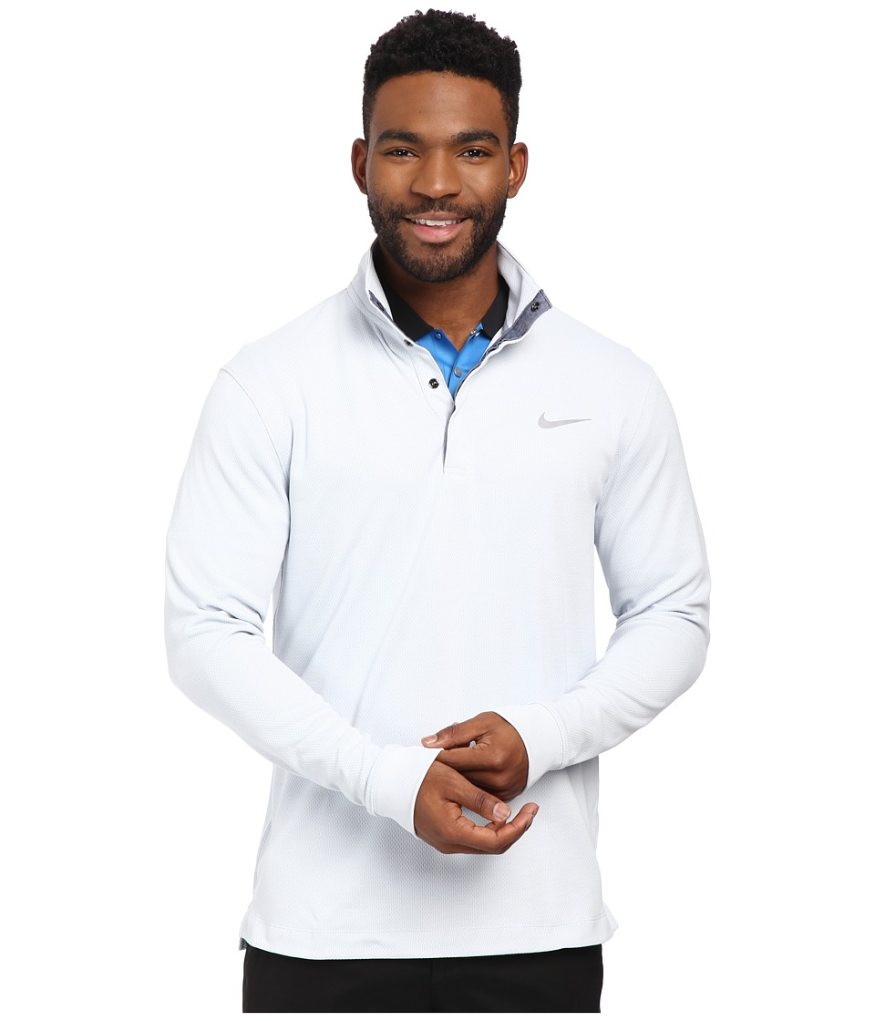 Nike Golf - Long Sleeve Transition Chambray (Birch Heather/Wolf Grey/Wolf Grey) Men's Clothing