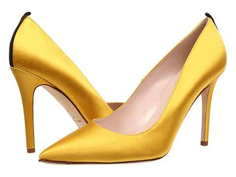 SJP by Sarah Jessica Parker - Fawn 100mm (Yellow Satin) Women's Shoes