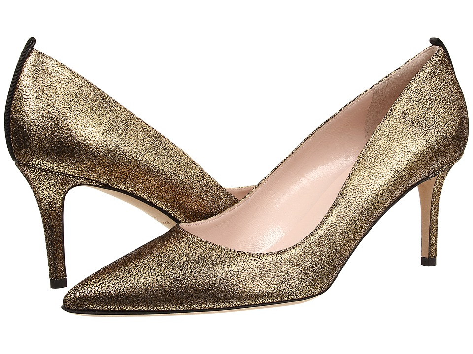 SJP by Sarah Jessica Parker - Fawn 70mm (Vintage Oro Gold Liberty Crack) Women