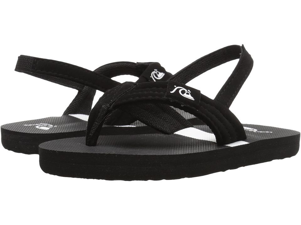 Quiksilver Kids - Molokai Layback (Toddler) (Black/Black/White) Boys Shoes