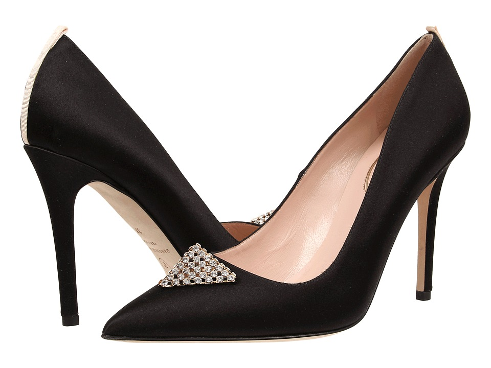 SJP by Sarah Jessica Parker - Wittman (Black Satin) Women's Shoes