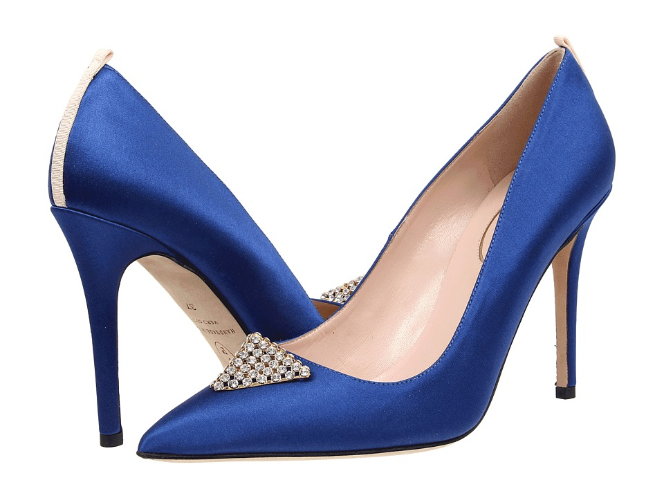 SJP by Sarah Jessica Parker - Wittman (Blue Satin) Women's Shoes