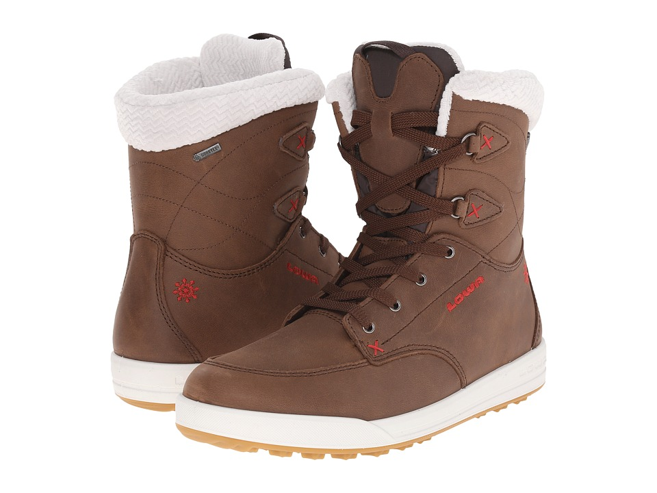 Lowa - Melrose GTX Mid (Brown/Red) Women