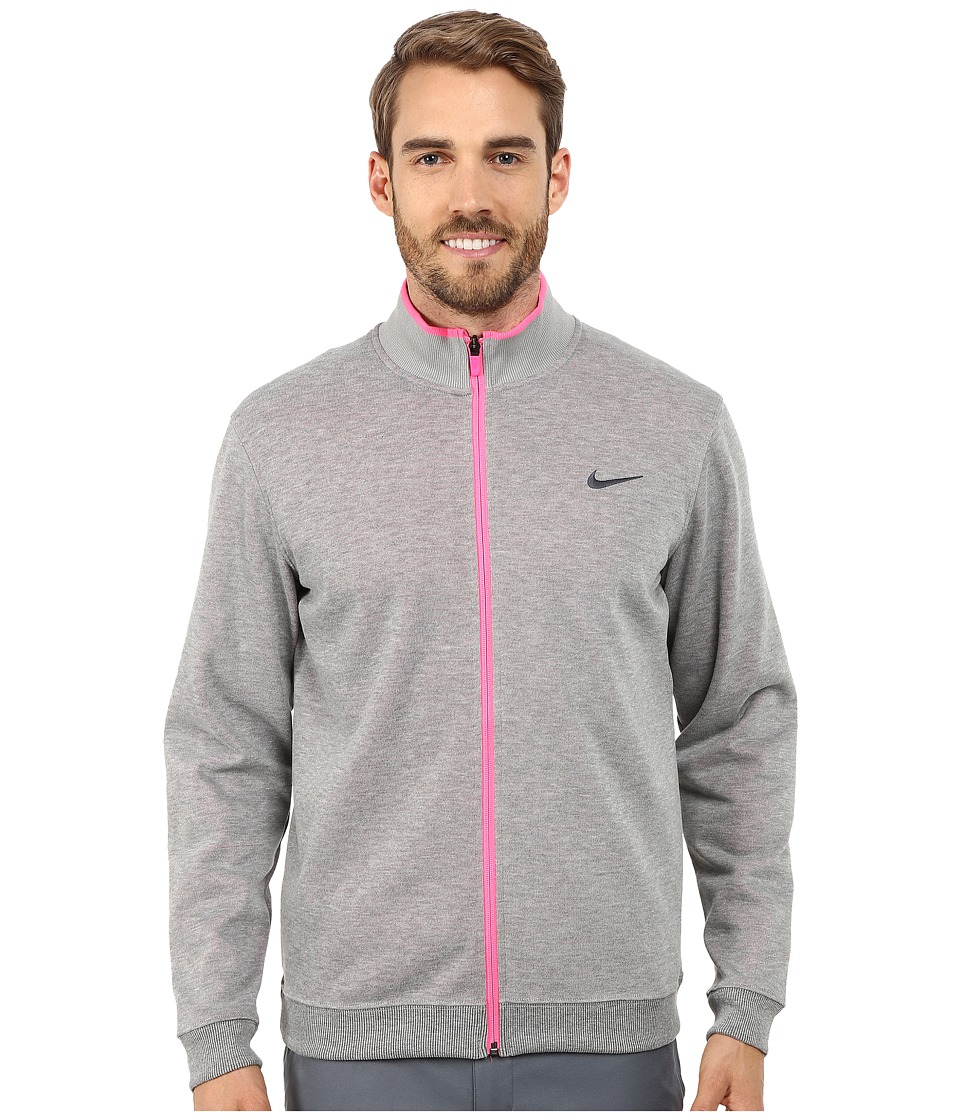 Nike Golf - Shield Dri-Fit Wool Jacket (Wolf Grey/Heather/Pink Powder/Anthracite) Men's Coat
