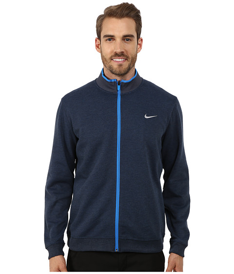 Nike Golf - Shield Dri-Fit Wool Jacket (Midnight Navy/Heather/Photo Blue/Wolf Grey) Men's Coat