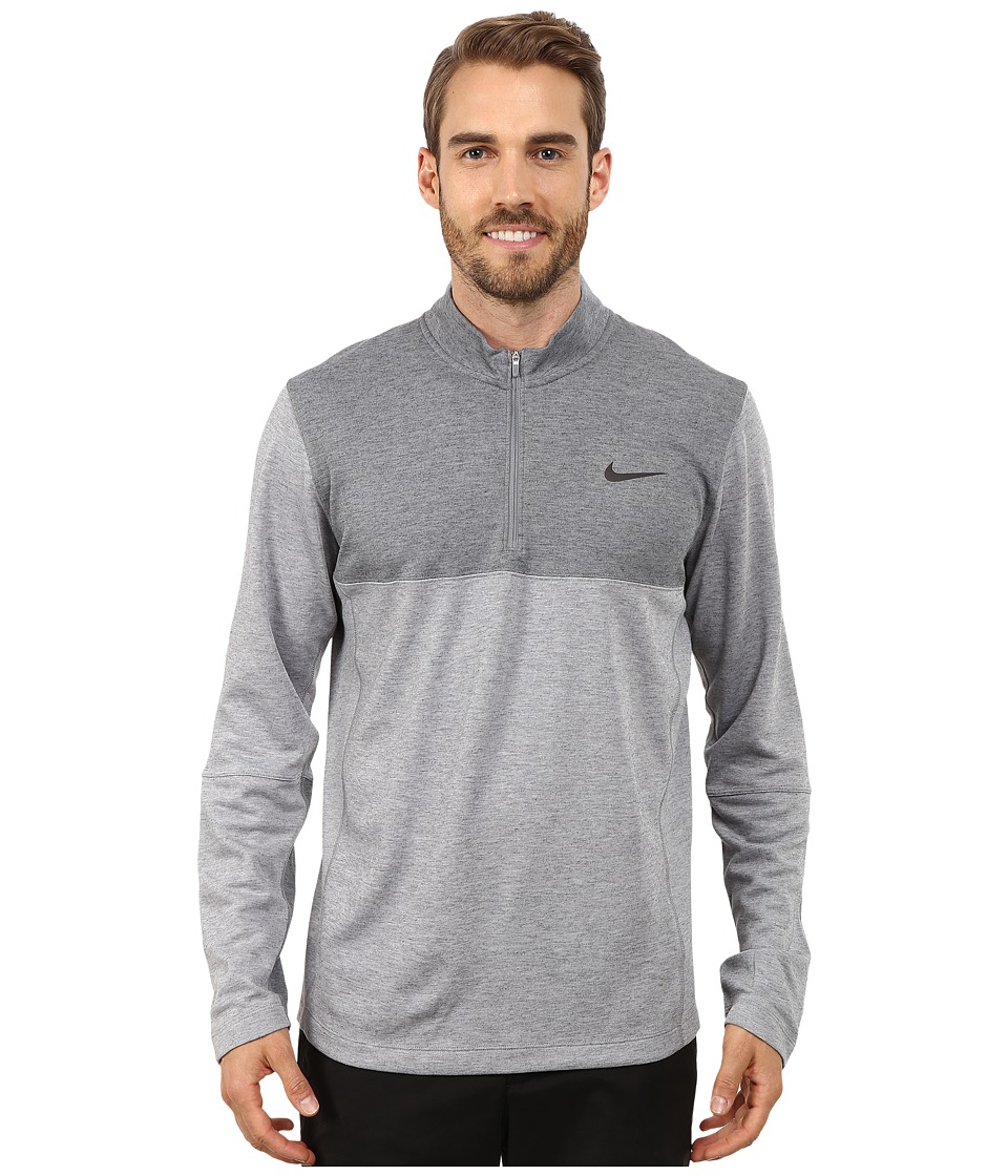 Nike Golf - Dri-Fit Wool 1/2 Zip Top (Wolf Grey/Cool Grey/Cool Grey/Anthracite) Men's Clothing