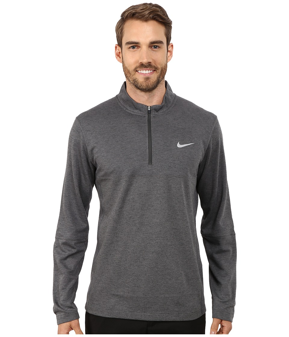 Nike Golf - Dri-Fit Wool 1/2 Zip Top (Dark Grey/Dark Grey/Anthracite/Wolf Grey) Men