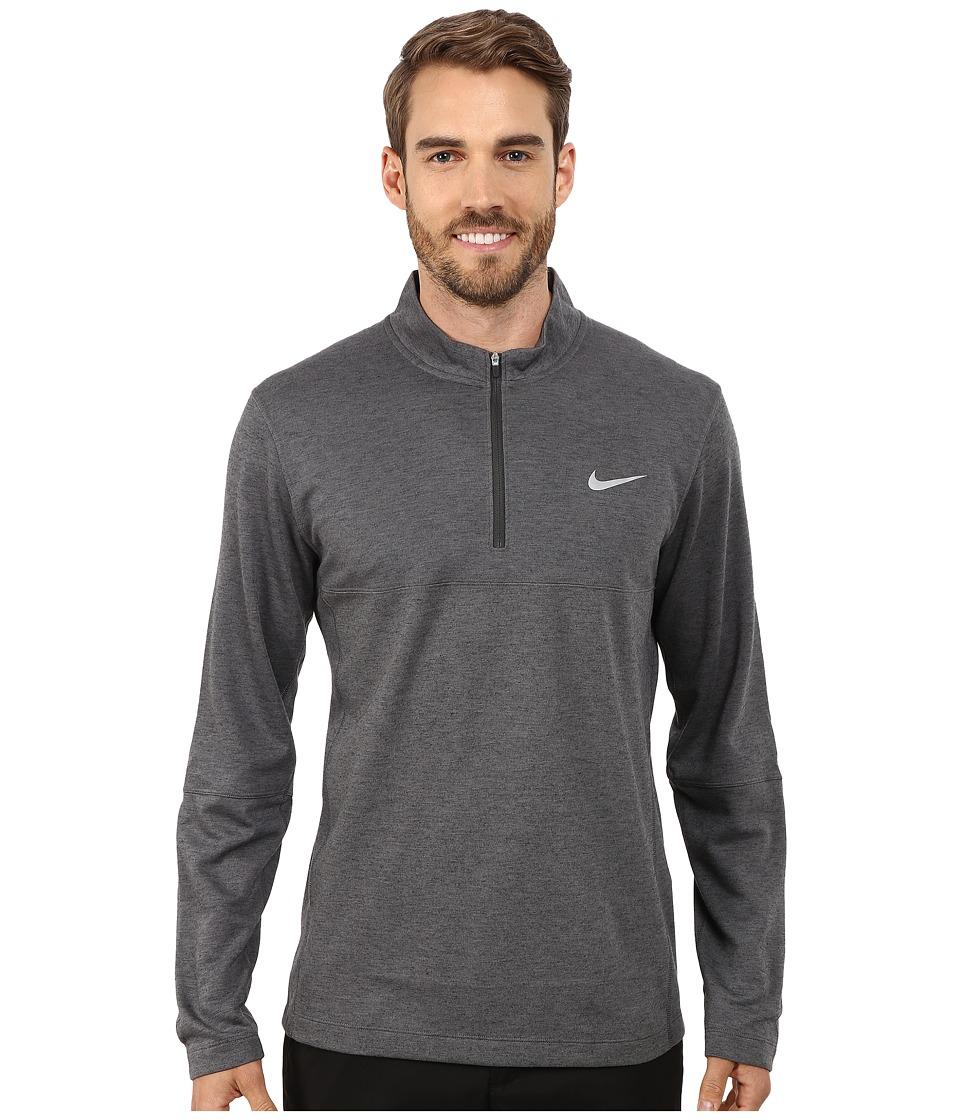 Nike Golf - Dri-Fit Wool 1/2 Zip Top (Dark Grey/Dark Grey/Anthracite/Wolf Grey) Men's Clothing