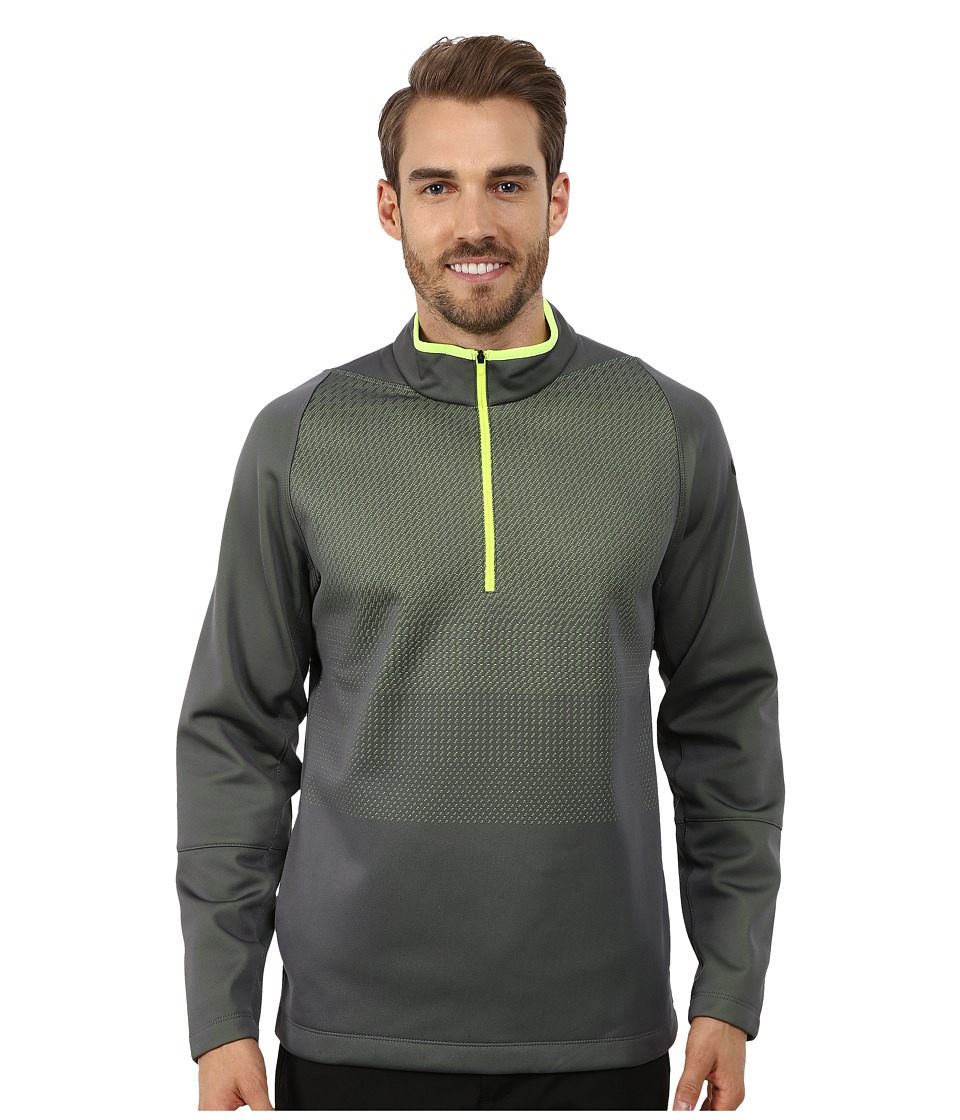 Nike Golf - Hypervis 1/2 Zip Top 2.0 (Dark Grey/Volt/Volt/Anthracite) Men's Clothing