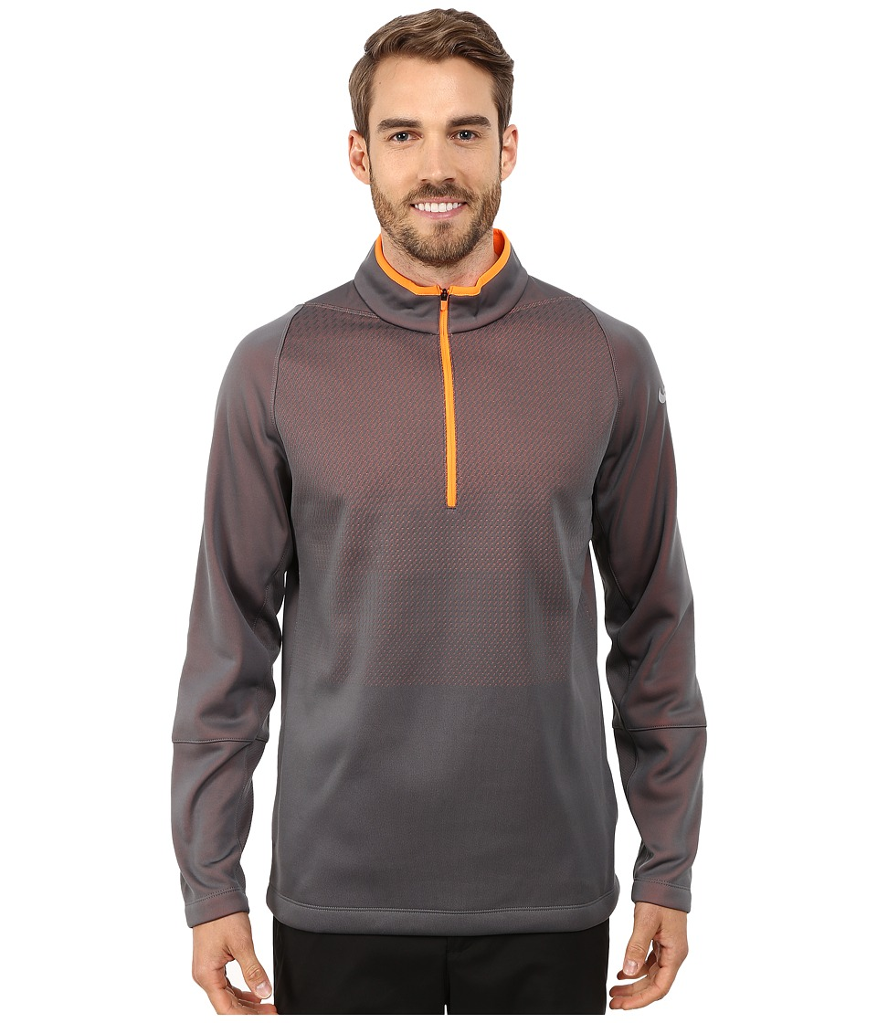 Nike Golf - Hypervis 1/2 Zip Top 2.0 (Dark Grey/Total Orange/Black/Wolf Grey) Men's Clothing