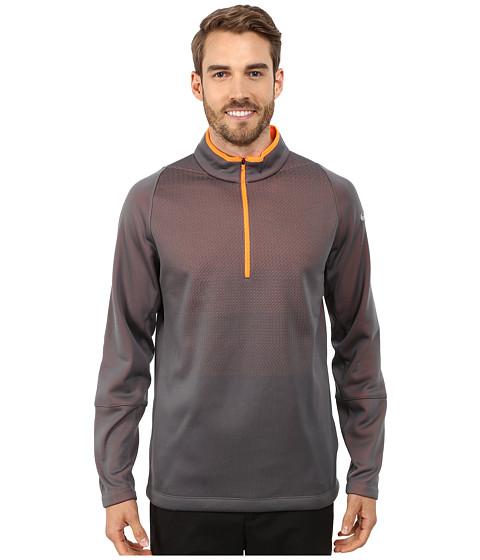 Nike Golf - Hypervis 1/2 Zip Top 2.0 (Dark Grey/Total Orange/Black/Wolf Grey) Men