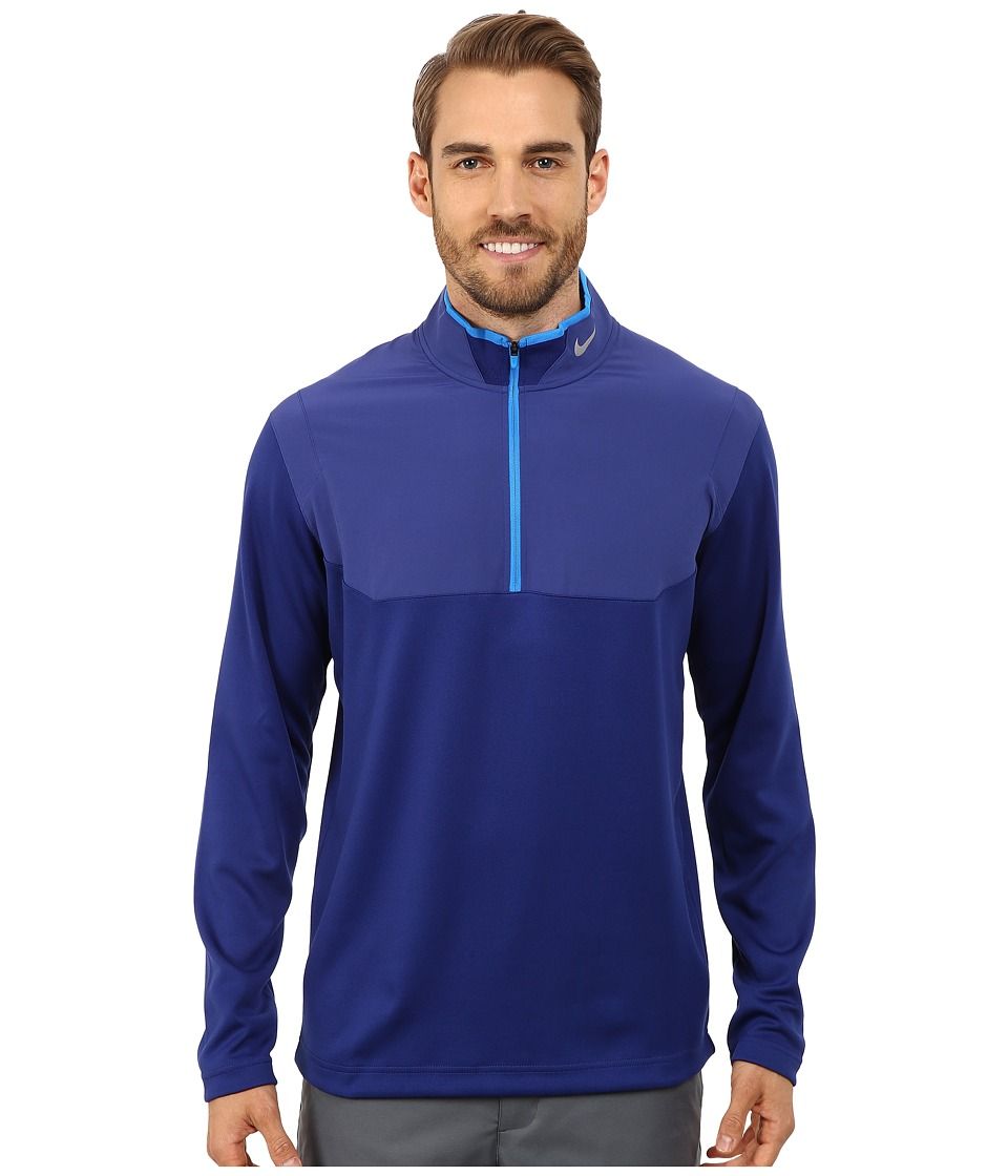 Nike Golf - Dri-Fit 1/2-Zip Top (Deep Royal Blue/Deep Royal Blue/Photo Blue/Wolf Grey) Men's Long Sleeve Pullover