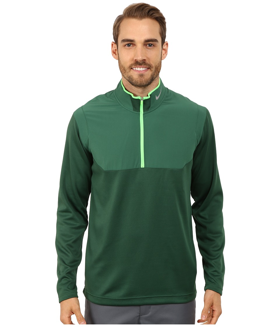 Nike Golf - Dri-Fit 1/2-Zip Top (Gorge Green/Gorge Green/Green Strike/Wolf Grey) Men's Long Sleeve Pullover