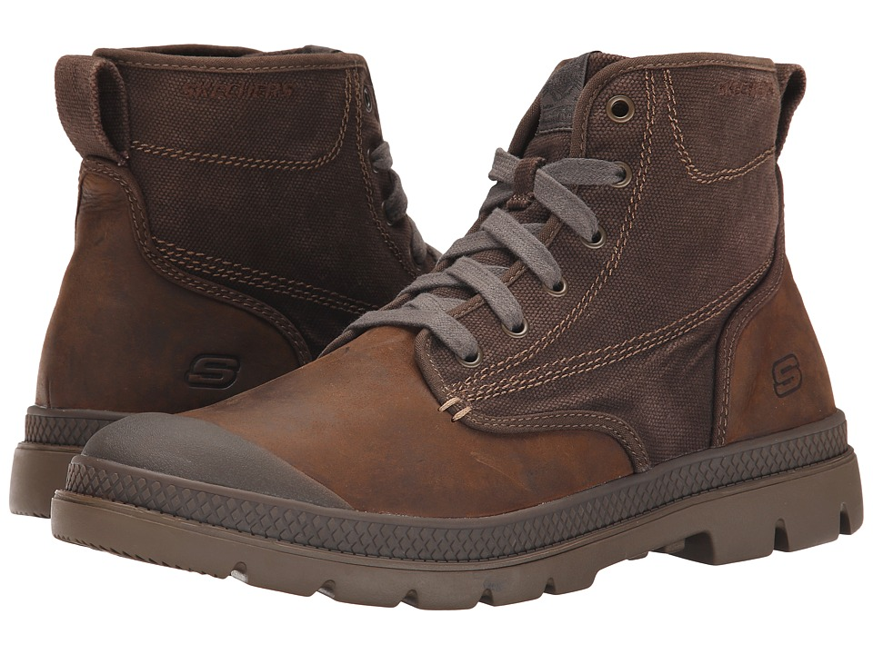 SKECHERS - Milton - Silvio (Dark Brown) Men's Lace-up Boots