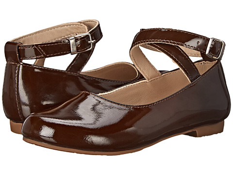 Elephantito - French Ballet Flats (Toddler/Little Kid/Big Kid) (Patent Brown) Girls Shoes