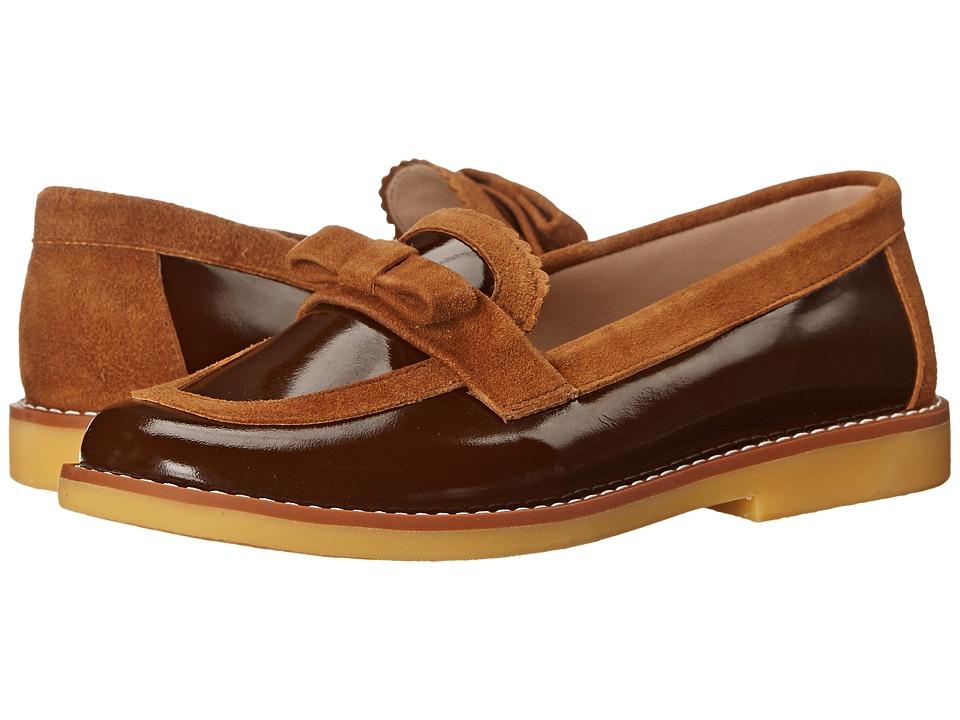 Elephantito Ella Loafer (Toddler/Little Kid/Big Kid) (Suede Brown) Girls Shoes