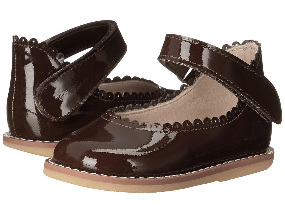 Elephantito Ballerina (Infant/Toddler) (Patent Brown) Girls Shoes