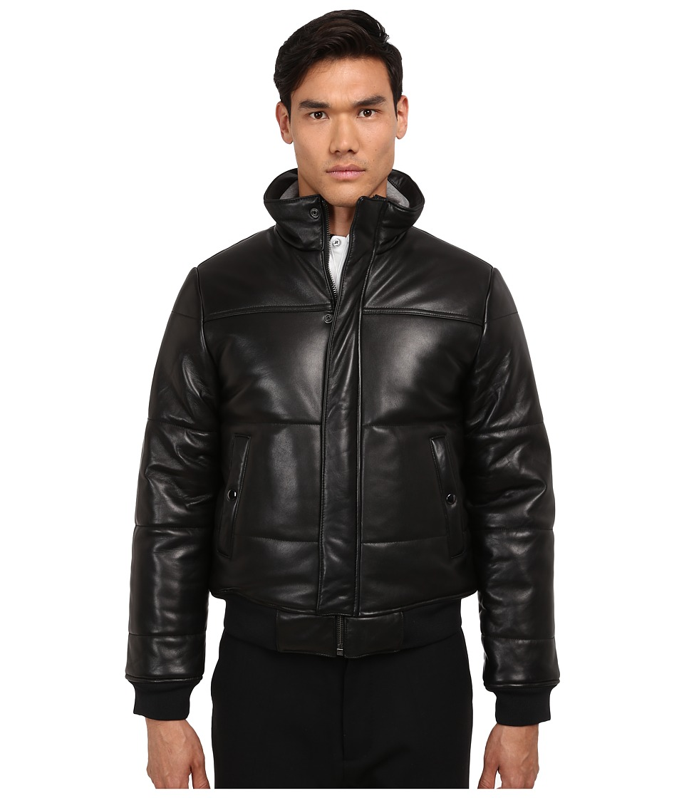 Marc by Marc Jacobs - Hudson Leather Bomber (Black) Men's Jacket