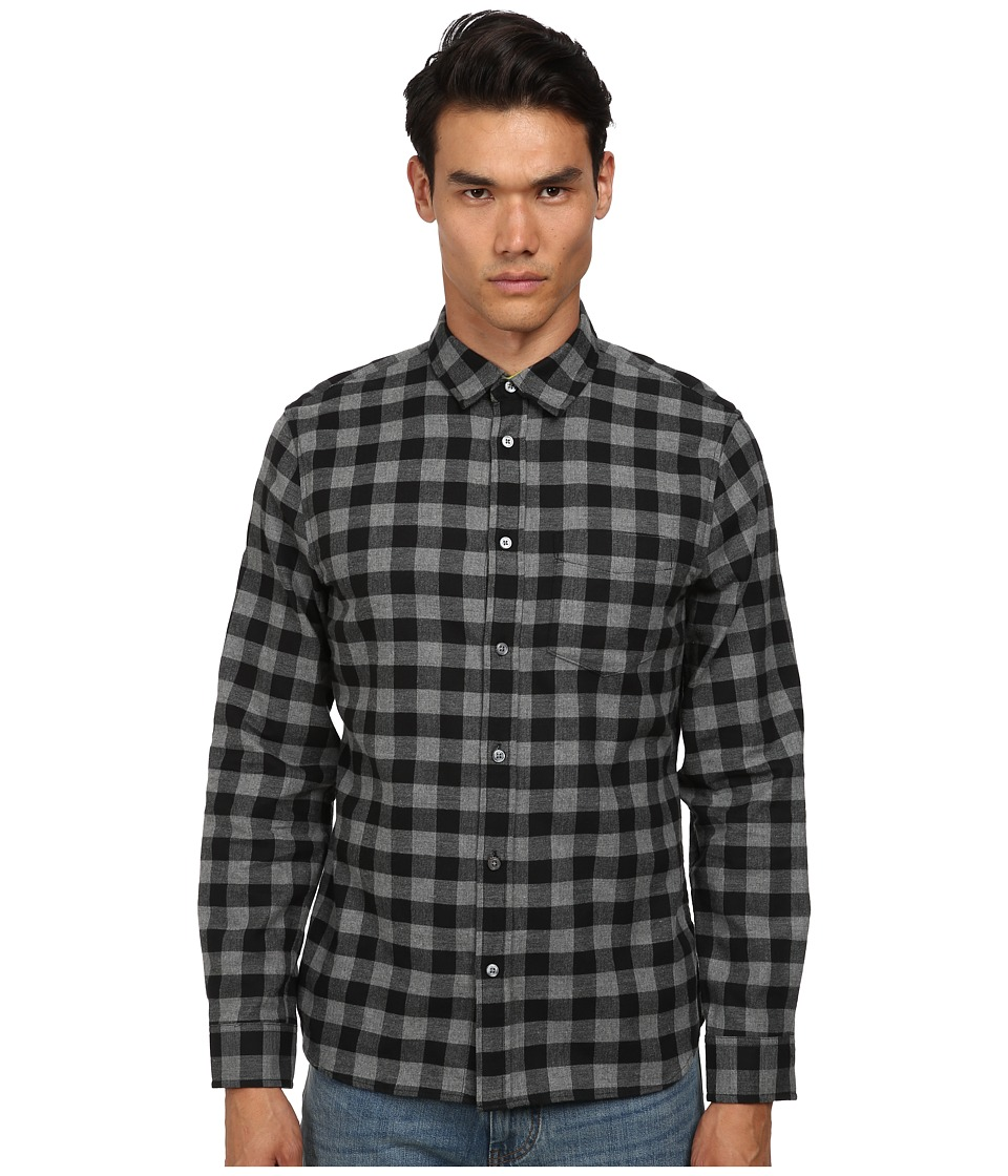 Marc by Marc Jacobs - Lucas Check Shirt (Grey Melange) Men's Long Sleeve Button Up
