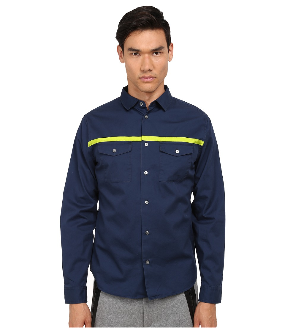 Marc by Marc Jacobs - Lightweight Twill Shirt (Marine Blue) Men's Clothing