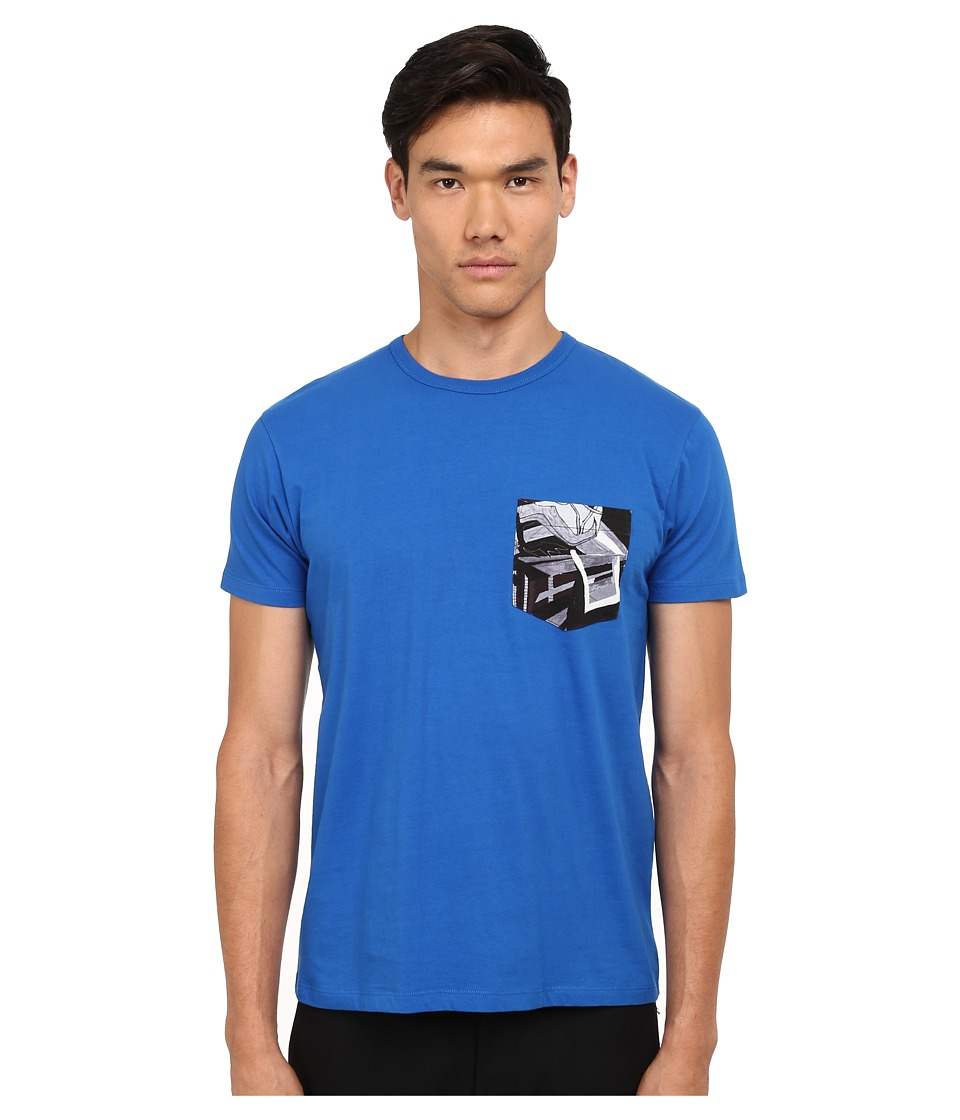 Marc by Marc Jacobs - Kaleidoscope Pocket Tee (Palace Blue) Men's T Shirt