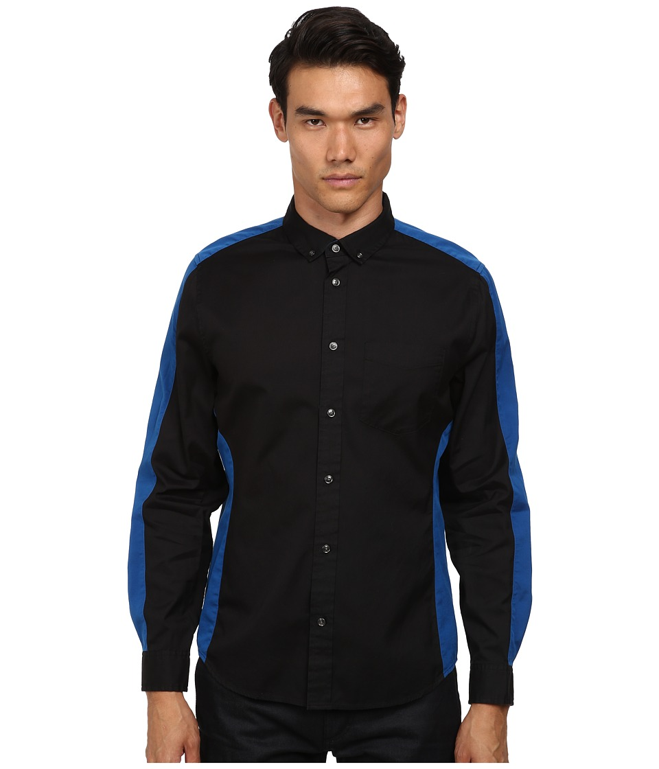 Marc by Marc Jacobs - Oxford Combo Shirt (Black Multi) Men's Clothing