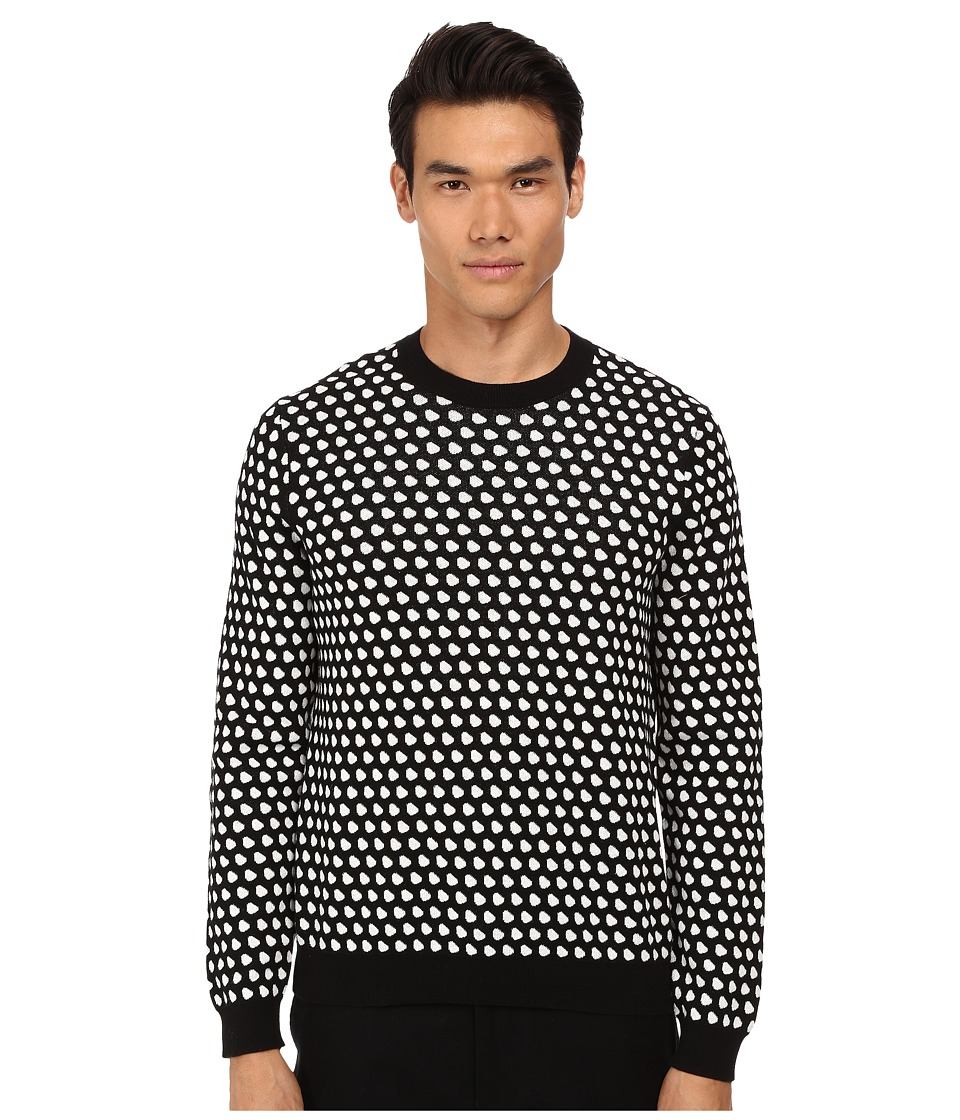 Marc by Marc Jacobs - Shield Jacquard Sweater (Chalk White Multi) Men's Sweater