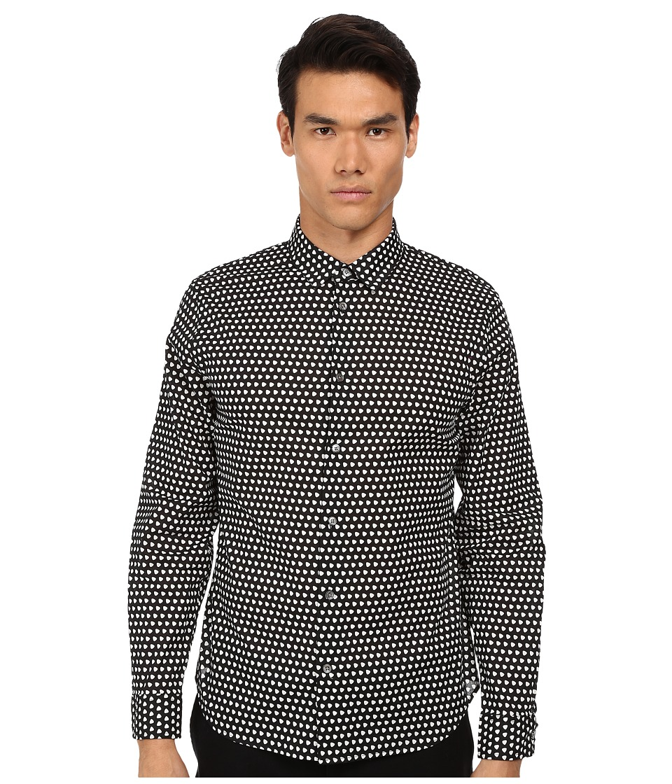 Marc by Marc Jacobs - Shield Print Shirt (Chalk White Multi) Men's Long Sleeve Button Up