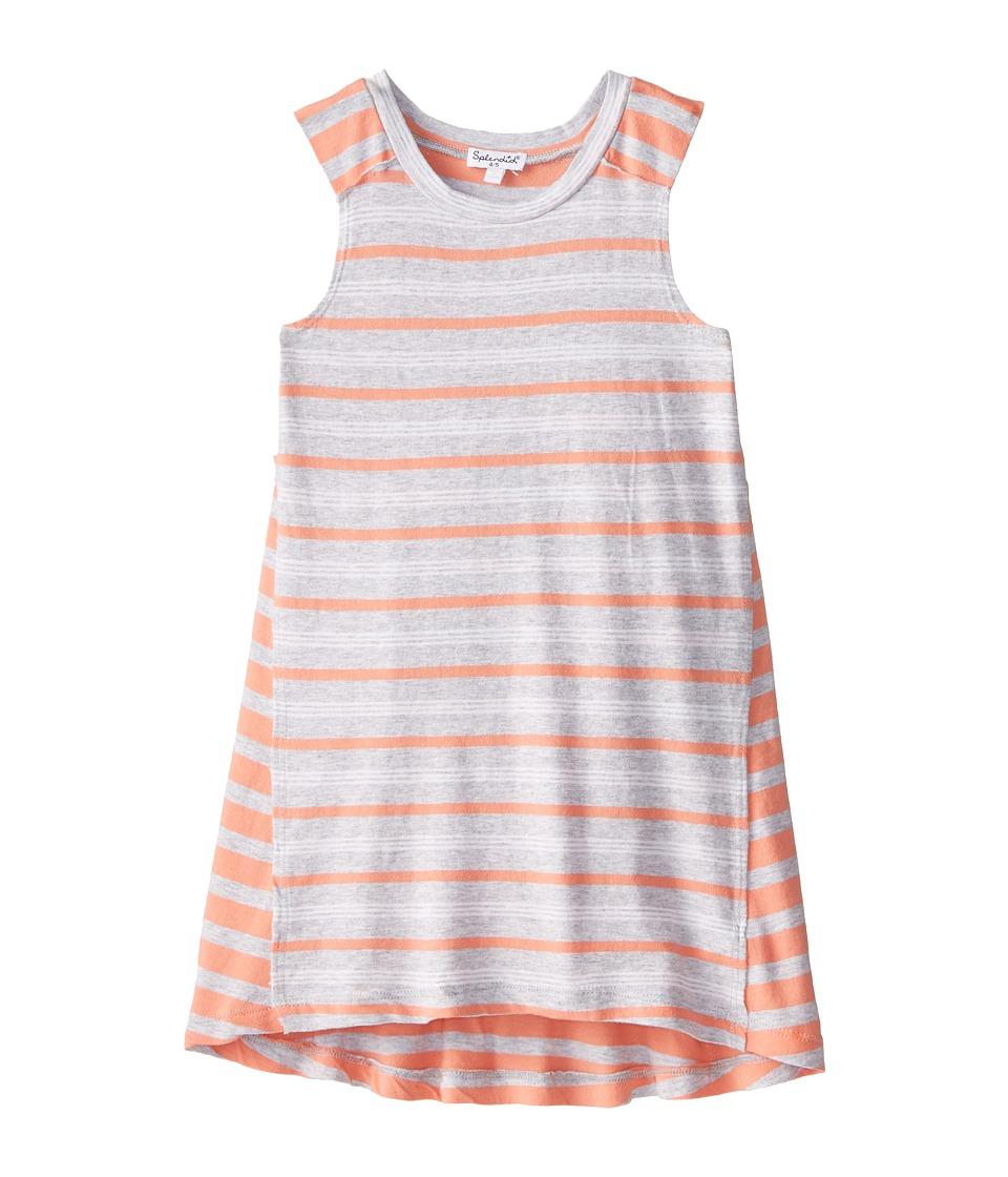 Splendid Littles - Classic Stripe Knit Dress (Little Kids) (Grey Heather) Girl's Dress