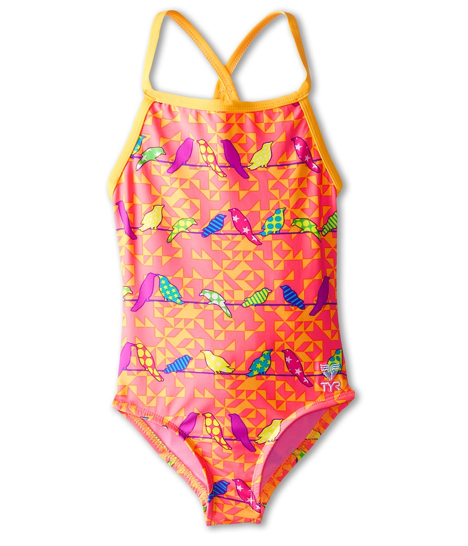 TYR - Chicadee Diamondfit (Little Kids/Big Kids) (Pink/Orange) Women's Swimsuits One Piece