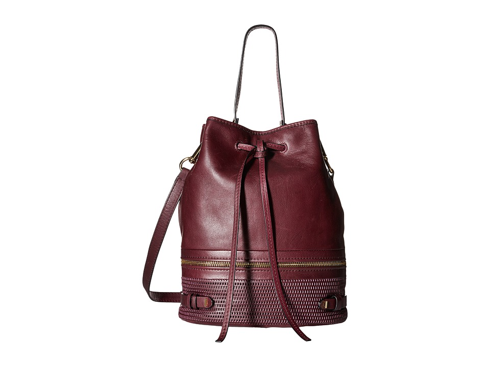She + Lo - Silver Lining Drawstring (Bordeaux) Drawstring Handbags