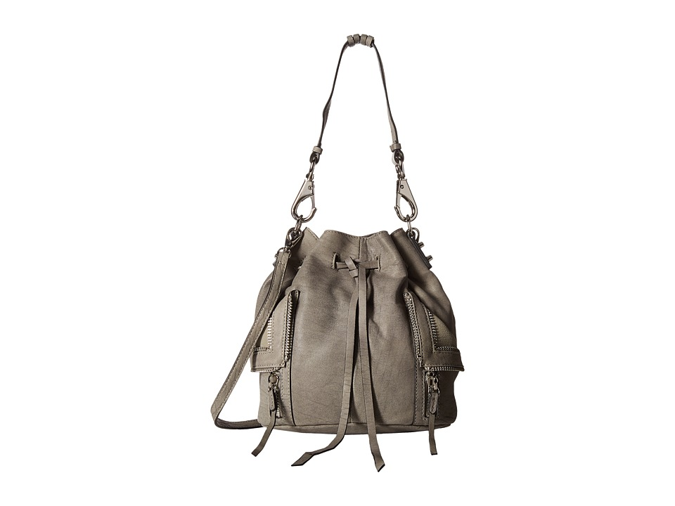 She + Lo - Let It Ride Drawstring (Washed Light Grey) Drawstring Handbags
