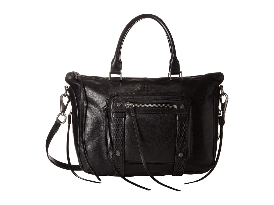 She + Lo - Stand Tall Satchel (Black) Satchel Handbags
