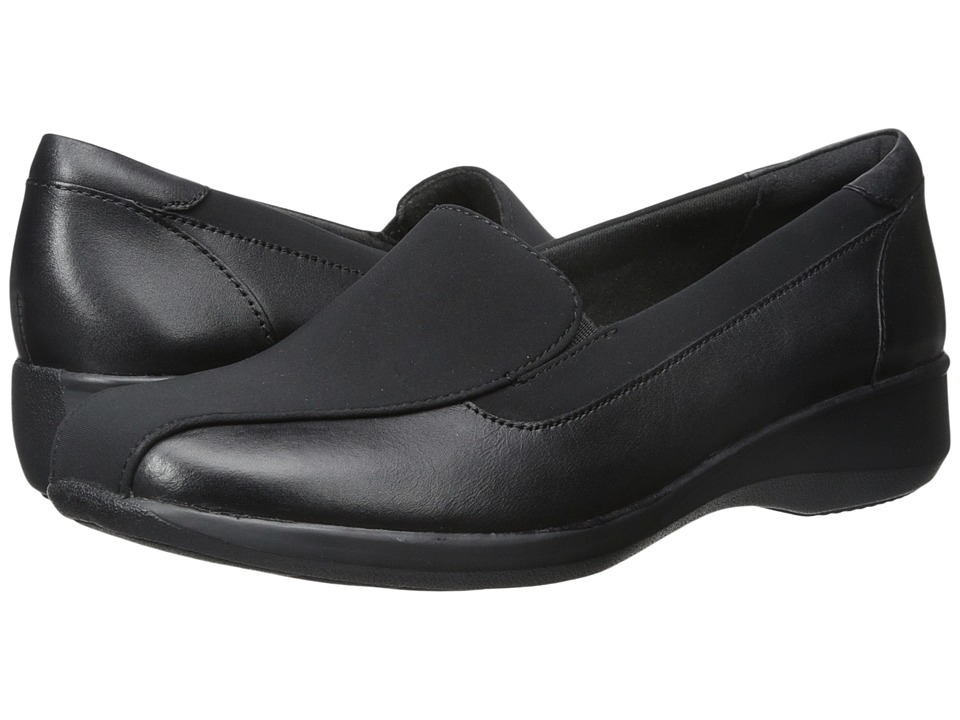 Womens Shoes Clarks Gael Castor Black Leather/Synthetic