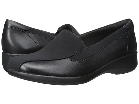 Clarks - Gael Castor (Black Leather/Synthetic) Women's Shoes