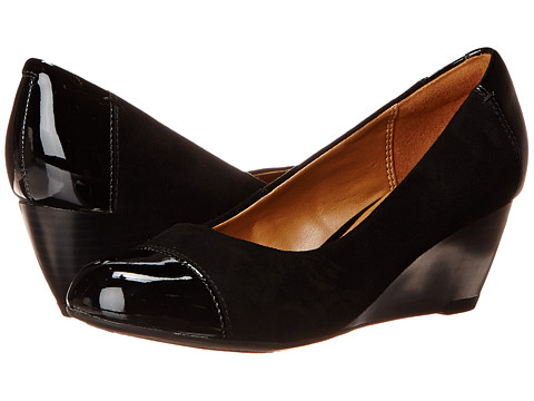 Clarks - Brielle Chanel (Black Suede/Patent) Women