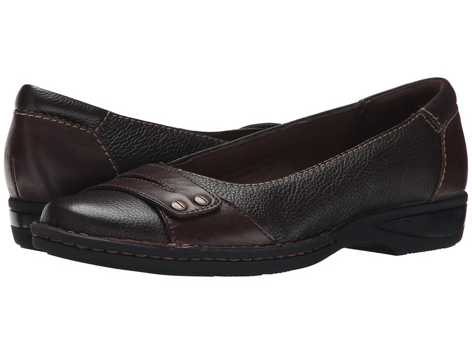 Clarks - Pegg Abbie (Brown Leather) Women