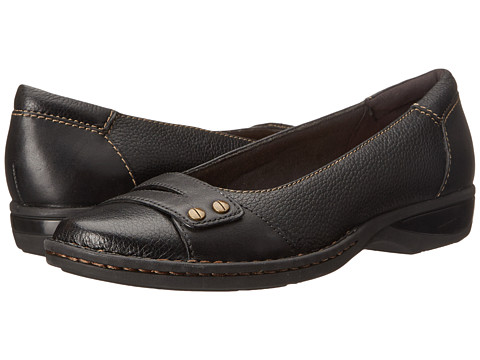 Clarks - Pegg Abbie (Black Leather) Women