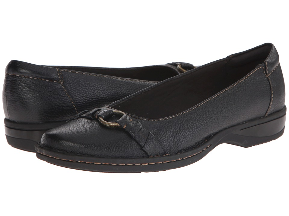 Clarks - Pegg Alba (Black Leather) Women's Shoes