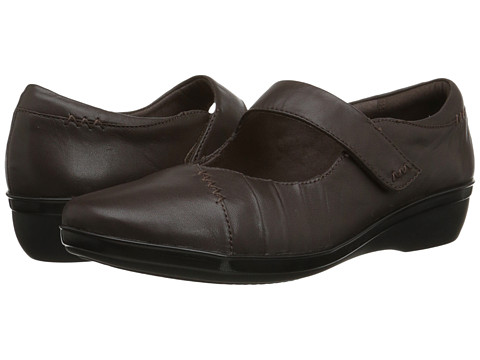 Clarks - Everlay Daphne (Brown Leather) Women's Shoes