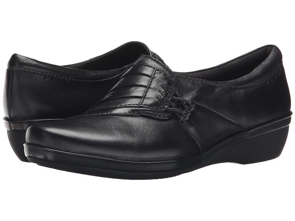 Clarks - Everlay Iris (Black Leather) Women's Shoes