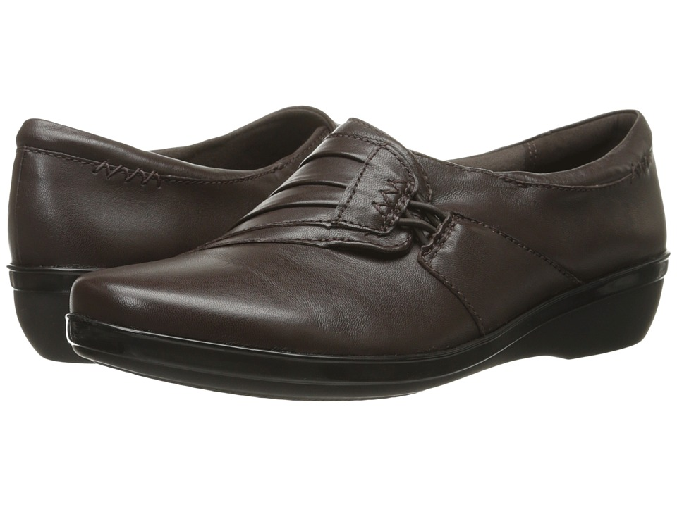 Clarks - Everlay Iris (Brown Leather) Women's Shoes
