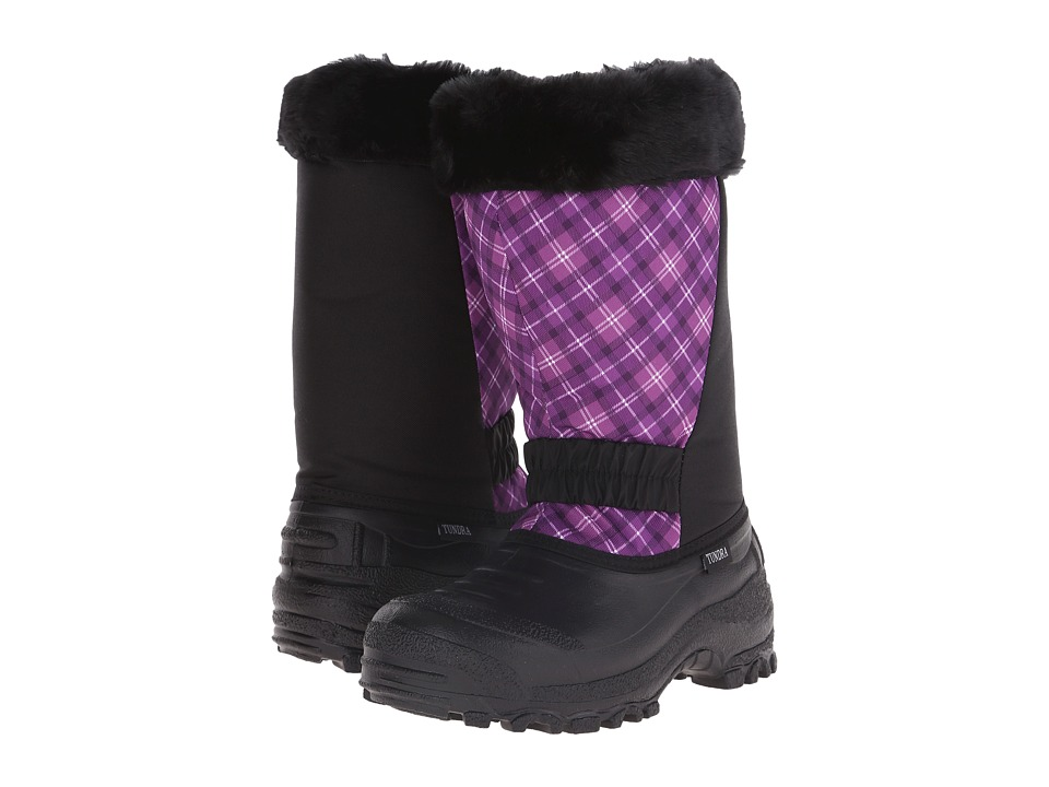 Tundra Boots Glacier (Black/Plum/Plaid) Women