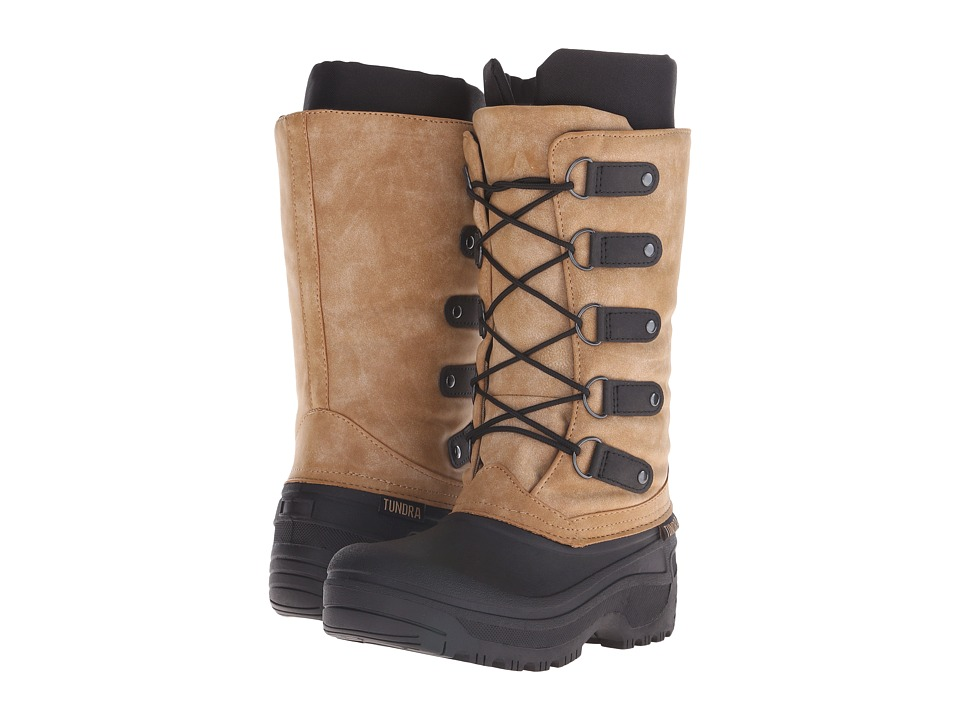 Tundra Boots - Tatiana (Black/Tan) Women's Cold Weather Boots