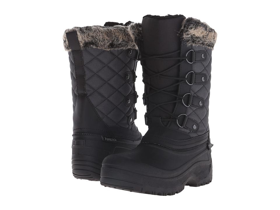 Tundra Boots Augusta (Black/Grey) Women