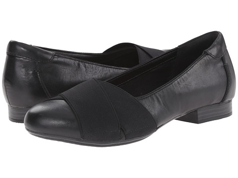 Clarks - Bayham Raine (Black Leather) Women's Shoes
