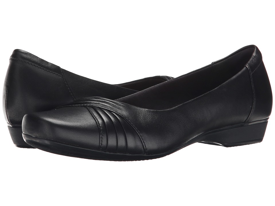 Clarks - Blanche Cam (Black Leather) Women